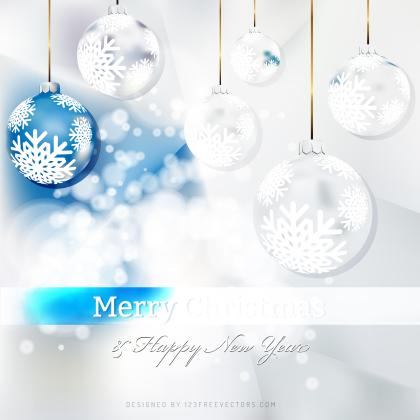Blue White Christmas Balls Background