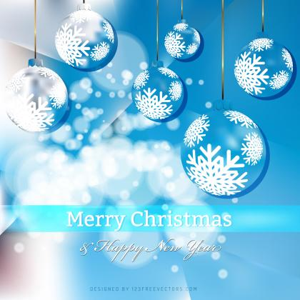 Blue Christmas Balls Background Graphics