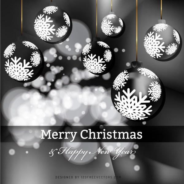 Black Christmas Balls.Black Christmas Balls Background Image