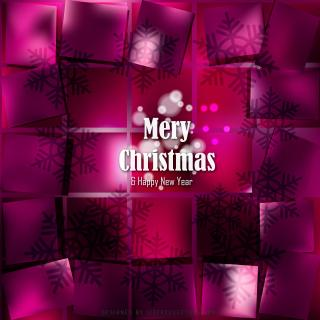 Merry Christmas and Happy New Year Tyrian Purple Background