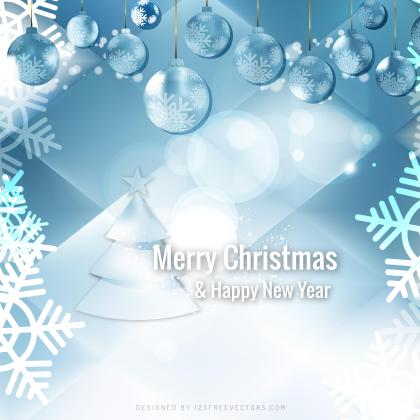 Light Blue Christmas Balls Background