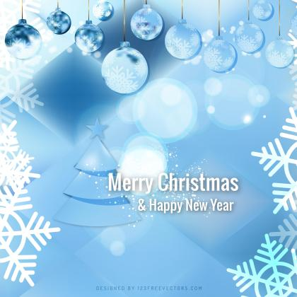Light Blue Christmas Balls Background Design
