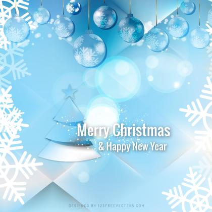 Light Blue Christmas Balls Background Graphics