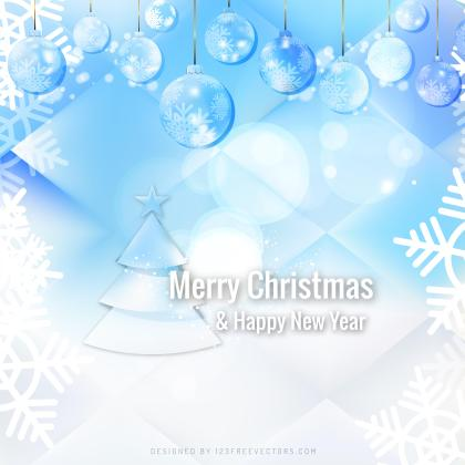 Light Blue Christmas Balls Background Template