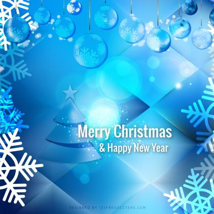 Blue Christmas Balls Background Template