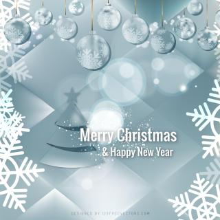 Merry Christmas and Happy New Year Light Color Background