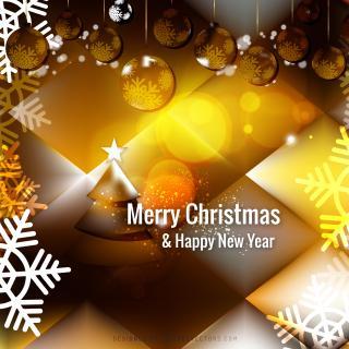 Black Orange Christmas Balls Background
