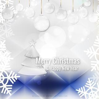 Blue White Christmas Balls Background Design