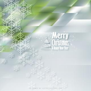 Merry Christmas and Happy New Year Blue Green Background