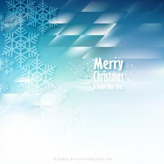 Light Blue Christmas Snowflakes Background Template