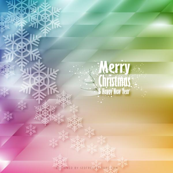 Colorful Christmas Background Design.Colorful Christmas Snowflakes Background Design