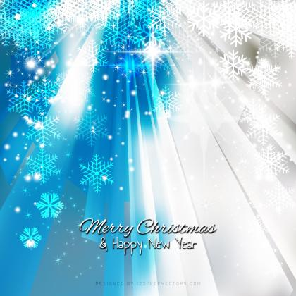 Gray Turquoise Sparkles Christmas Snowflake Background Template