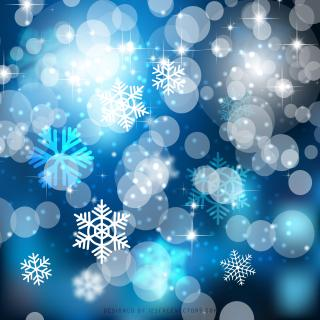 Dark Blue Christmas Bokeh Lights Background Template