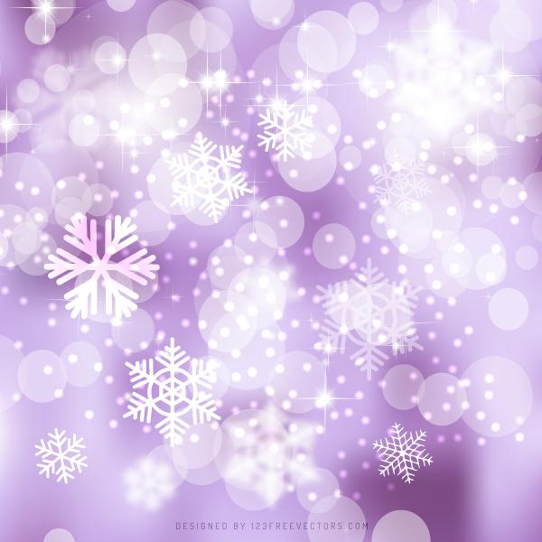 Light Purple Christmas Bokeh Lights Background Template