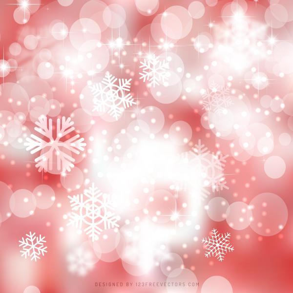 Light Red Bokeh Christmas Lights Background Image