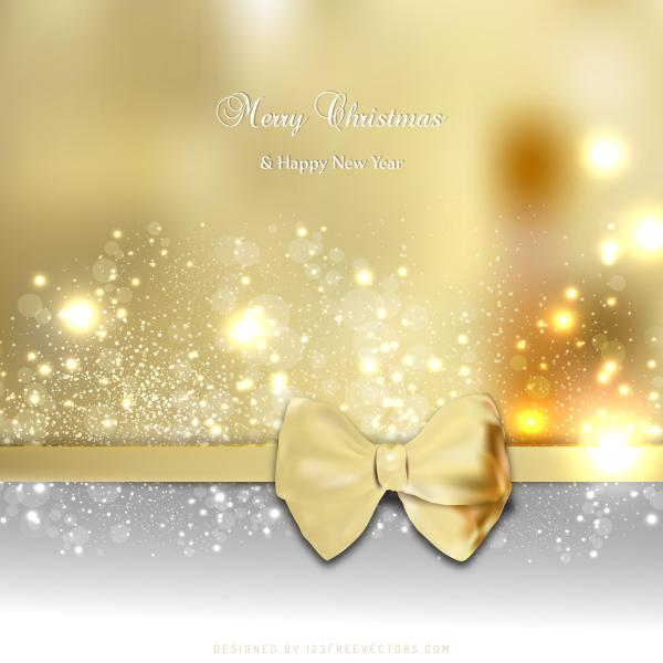 Christmas Graphics Background.Gold Christmas Greeting Card Bow Background Graphics