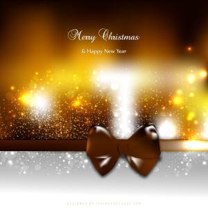 Black Orange Christmas Greeting Card Bow Background Image