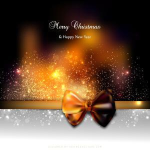 Black Orange Fire Christmas Greeting Card Background