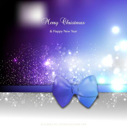 Purple Black Christmas Greeting Card Bow Background Design