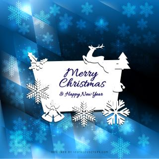 Merry Christmas and Happy New Year Card Design