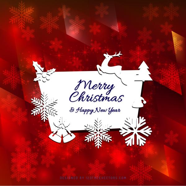 merry christmas and happy new year card template