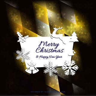 Merry Christmas and Happy New Year Card Background Graphics