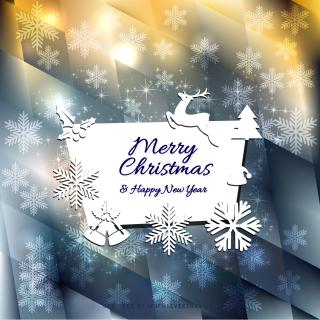 Merry Christmas and Happy New Year Card Graphics