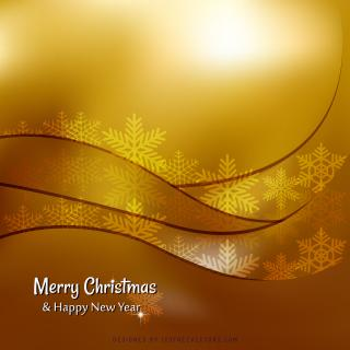 Merry Christmas and Happy New Year Orange Background