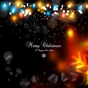 Black Orange Fire Christmas Lights Background Graphics