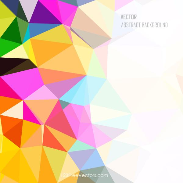 Colorful Rainbow Low Poly Background Template
