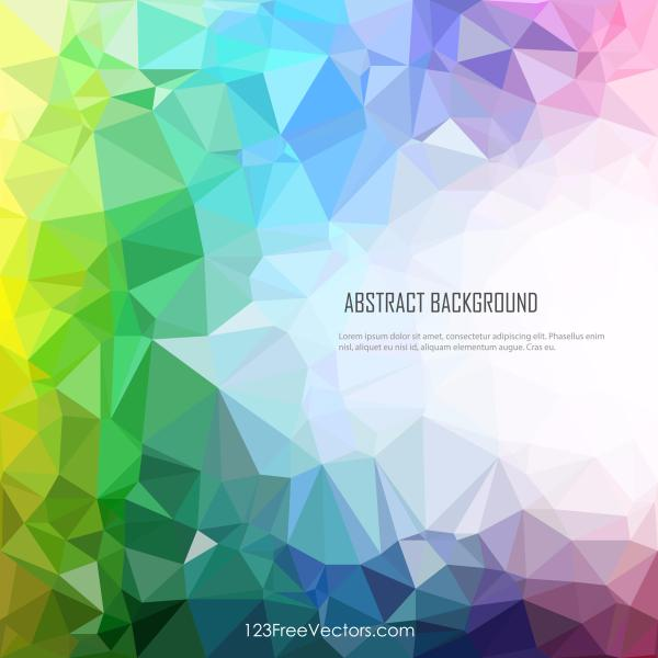 Polygonal Colorful Rainbow Background Vector