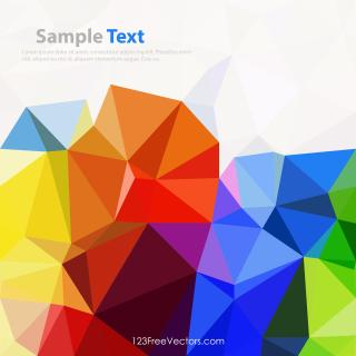 Colorful Rainbow Geometric Polygon Background Image