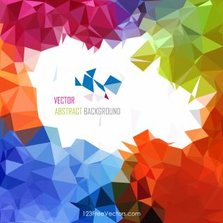 Colorful Rainbow Abstract Geometric Polygon Background Graphics