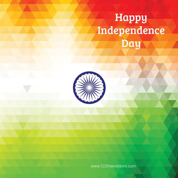 Happy Independence Day India Vector Background