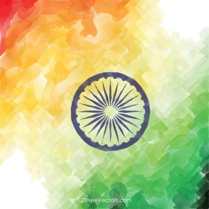 Creative Watercolor Indian Flag Background Image