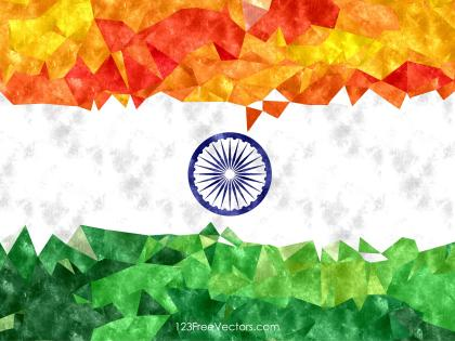 Indian Flag Watercolor Background Vector