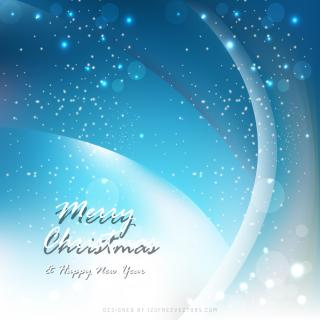 Merry Christmas Blue Background Image