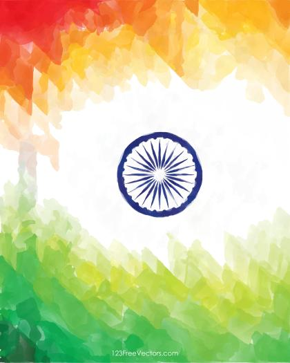 Creative Watercolor Indian Flag Background for Indian Republic Day and Independence Day