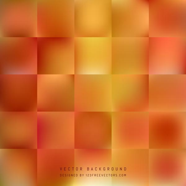 Abstract Yellow Orange Square Background Template