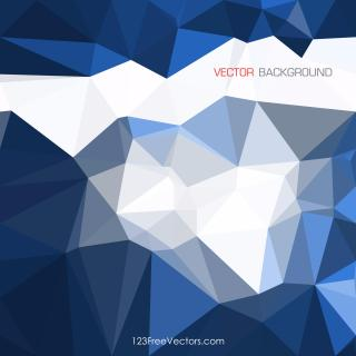 Dark Blue Geometric Polygon Background Vector
