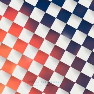 Navy Blue and Orange Checkerboard Background