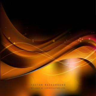 Black Orange Fire Wave Background Template
