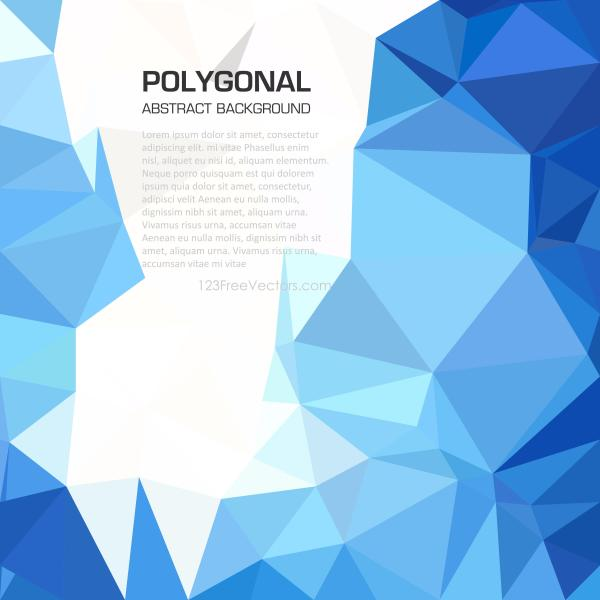 Polygonal Triangular Sky Blue Wallpaper Background