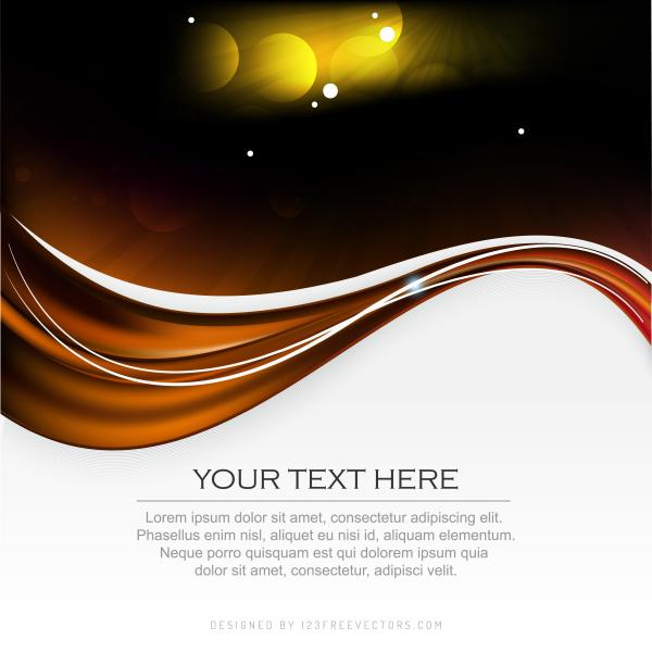 Abstract Black Orange Fire Background Graphic Design Template
