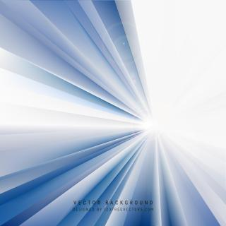 Blue Light Rays Background Template