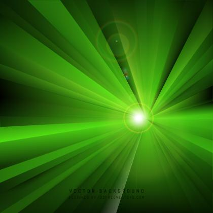 Abstract Black Green Light Rays Background Graphics