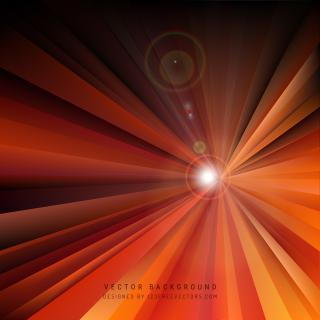Black Orange Fire Light Rays Background Template