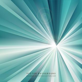 Turquoise Light Rays Background Design