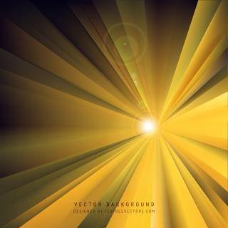 Black Yellow Light Rays Background Template