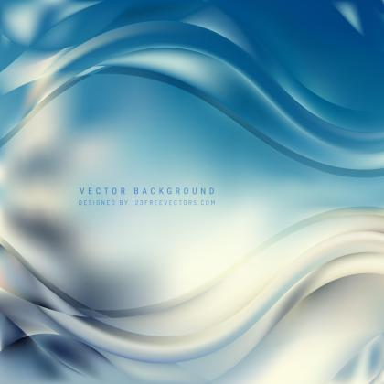 Blue Gray Wave Background Template